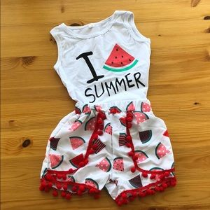 Other - Child's top and bottom in a bright summer print!